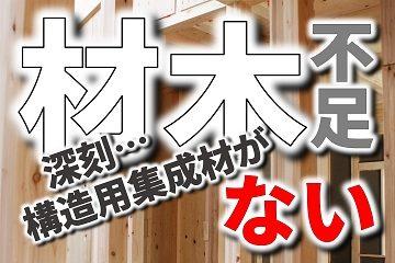 材木 構造用集成材 不足 価格高騰
